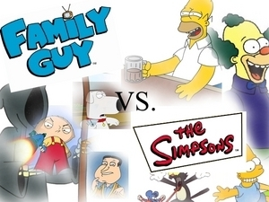 The Simpsons Vs Family Guy wallpaper called Family Guy Vs The Simpsons
