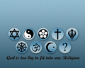 God is too big to fit into one religion wallpaper