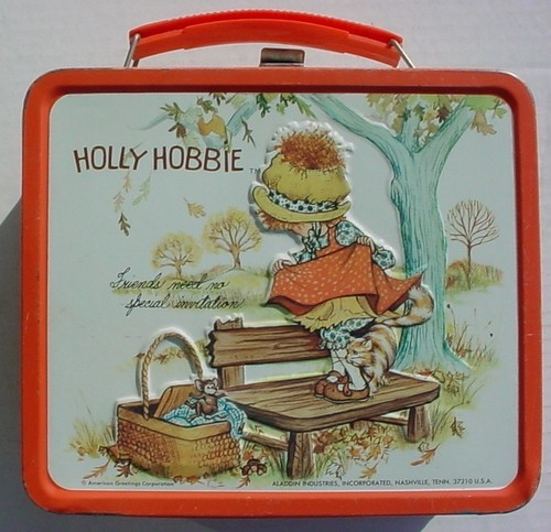 Lunch Boxes karatasi la kupamba ukuta called holly Hobbie 1970s Vintage Lunch Box