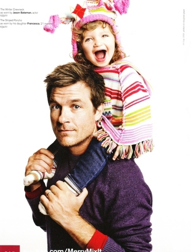 Jason Bateman wallpaper titled Jason and Francesca in GAP ad