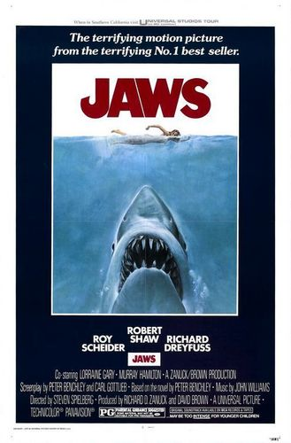 Jaws original film poster