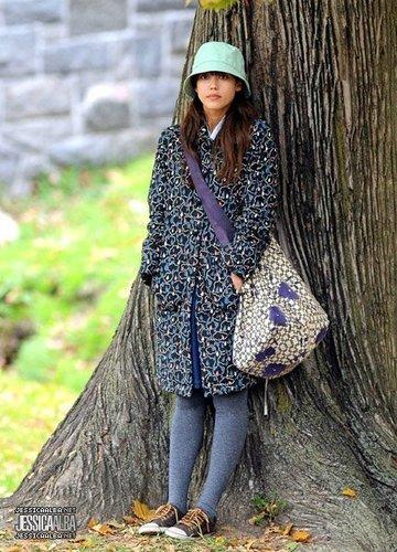 Jessica filming new movie