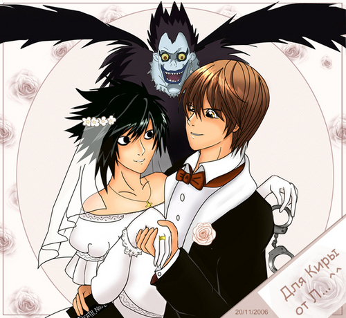Death Note achtergrond titled L and Light's ....................... WEDDING?!?!