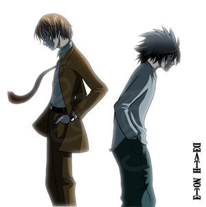 L And Light Death Note L and light
