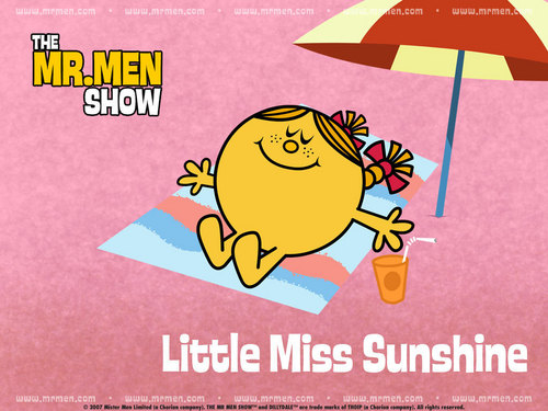 Cartoon Network karatasi la kupamba ukuta called Little Miss Sunshine