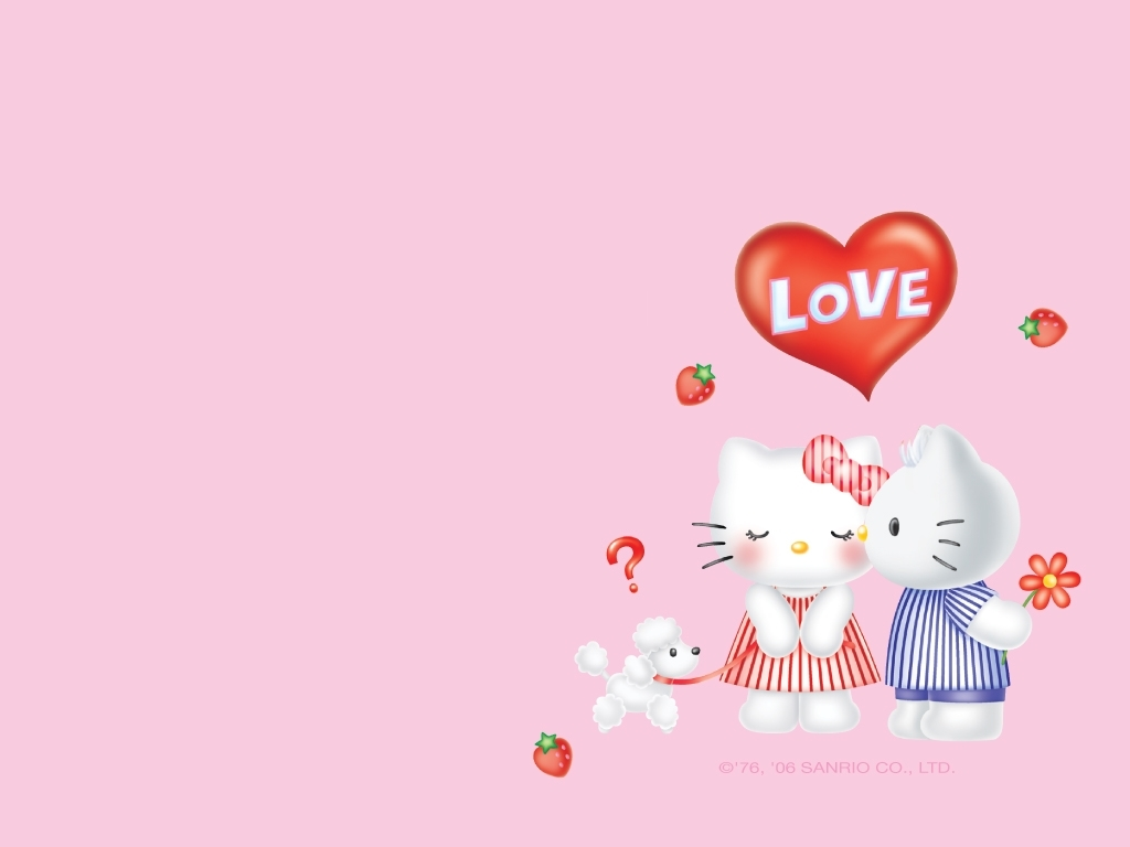 cute Love Wallpapers : Love Wallpaper - Hello Kitty Wallpaper (2712800) - Fanpop