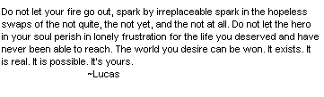 Lucas Quote