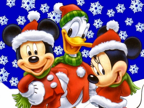 Christmas wallpaper entitled Mickey Mouse Christmas