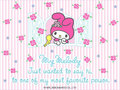 My Melody E-Card