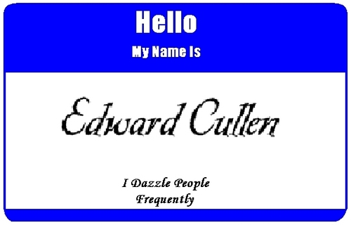Name Tag - edward-cullen Photo