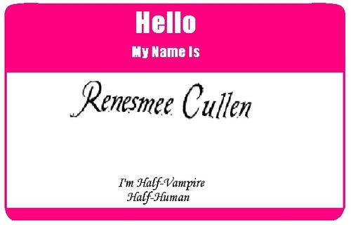 Edward Cullen images Name Tag wallpaper and background photos
