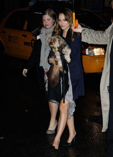 Natalie Portman arrives at Letterman
