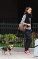 Natalie Portman walking her dog in LA (Nov 5th) - celebrity-gossip photo