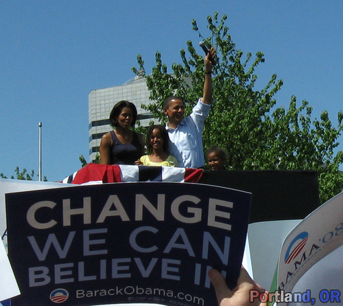 Obama Family - Change We Can Believe In