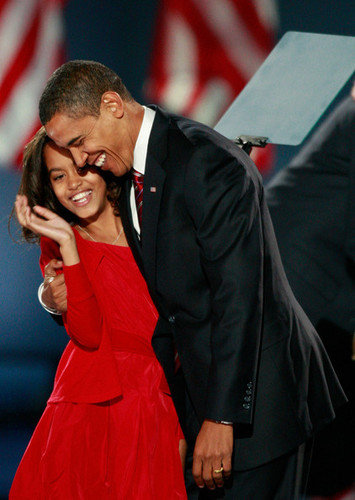Obama and Malia Ann