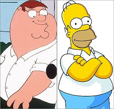The Simpsons Vs Family Guy wolpeyper called Peter Vs Homer
