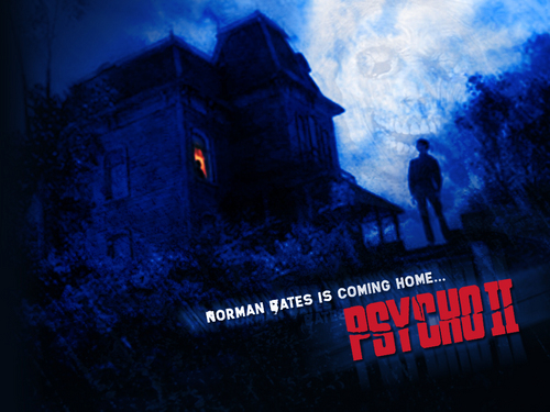 Horrorfilme Hintergrund called Psycho II w'paper