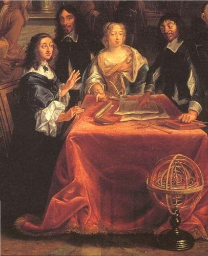 Kings and Queens wallpaper called Queen Christina and Rene Descartes