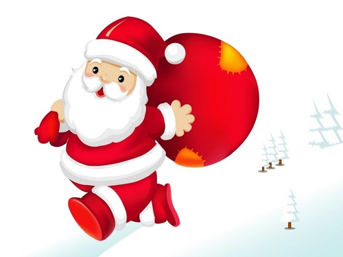 Christmas wallpaper titled Santa Claus