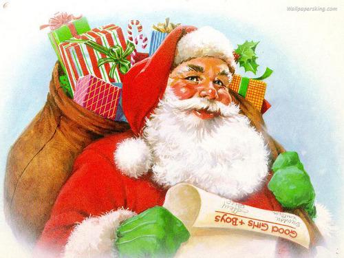 Christmas wallpaper titled Santa Claus
