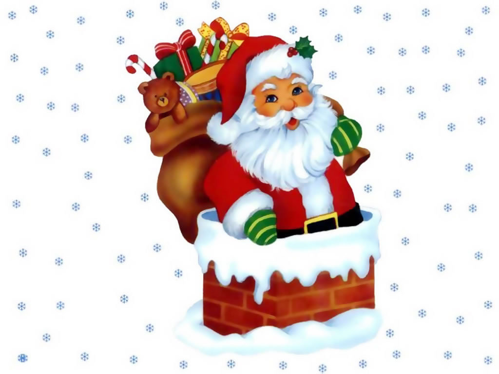 Santa Claus Pic With Tree | New Calendar Template Site