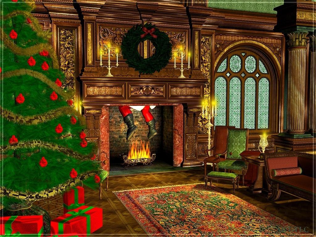 Santa Visits ... (Christmas 2008)
