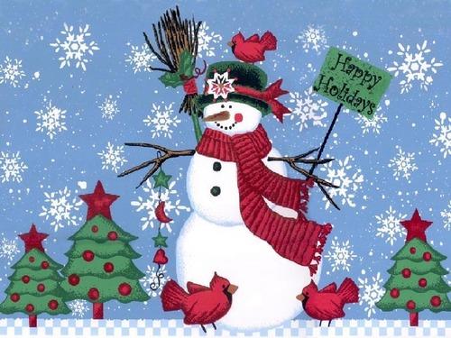 Krismas kertas dinding called Snowmen