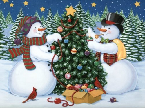 Christmas wallpaper called Snowmen