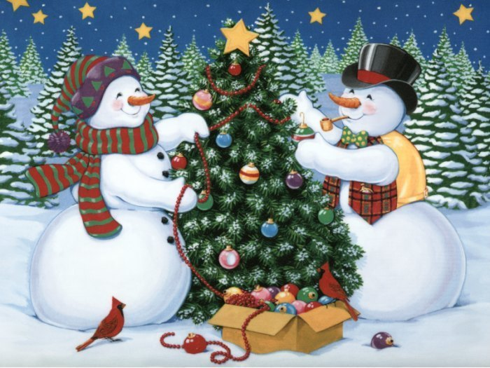 Snowmen christmas photo 2735120 fanpop - Bonhomme de neige en pompon ...