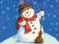 Snowmen - christmas wallpaper