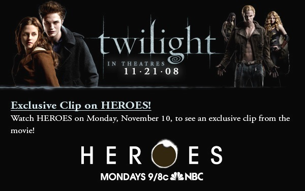 TWILIGHT exclusive clip during Heroes
