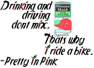 That's why I ride a bike