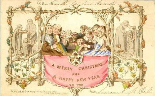 The First Christmas Card - 1843   (Christmas 2008)
