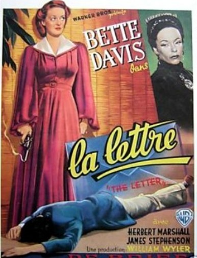 The Letter Movie 1940 Belgium Poster