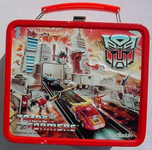 transformers Vintage 1986 Lunch Box