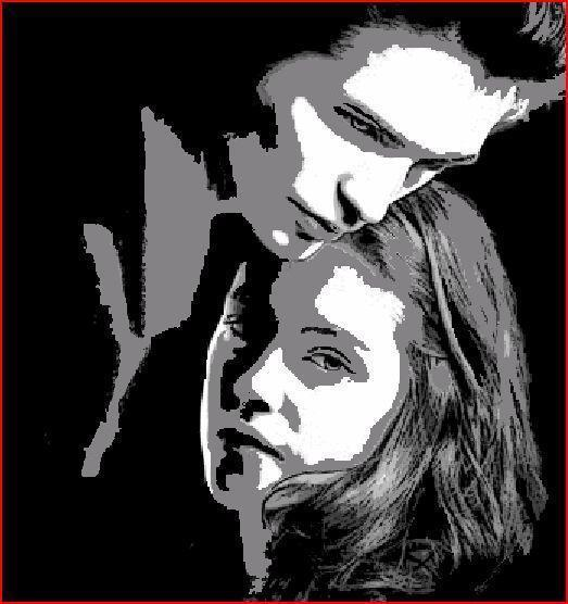Twilight Pumpkins stencil