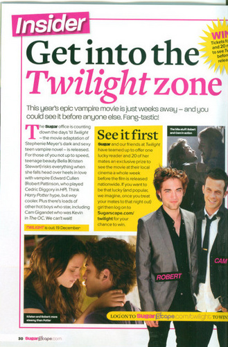 Twilight in Sugar magazine (UK)