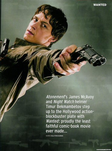 Wanted Spread in Empire Mag - james-mcavoy Photo