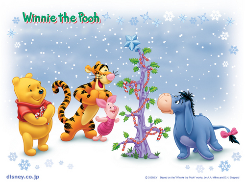 Christmas wallpaper entitled Winnie the Pooh Christmas