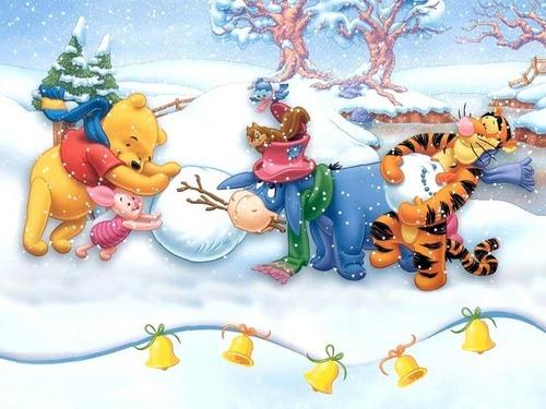 giáng sinh hình nền called Winnie the Pooh giáng sinh
