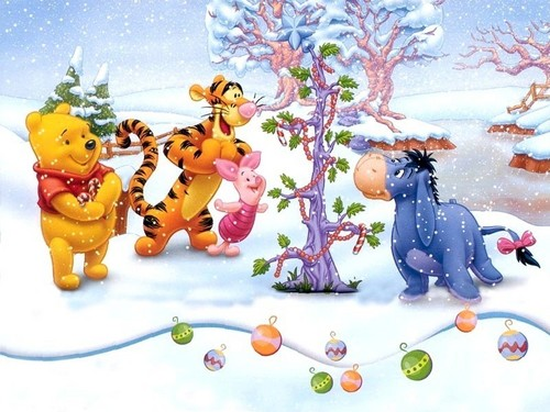 Christmas wallpaper titled Winnie the Pooh Christmas