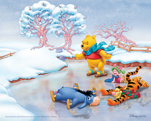 Christmas images Winnie the Pooh Christmas HD wallpaper and background photos
