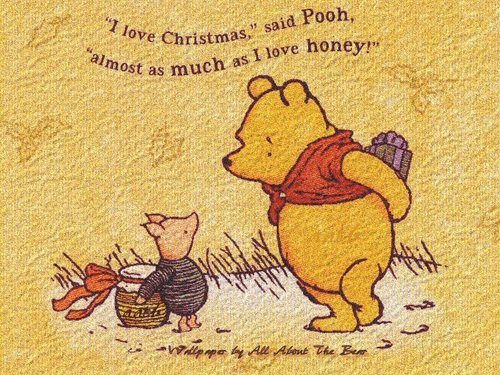 Christmas wallpaper called Winnie the Pooh & Piglet