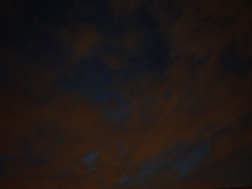 a spooky Halloween night sky