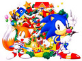 old sonic and tails - sonic-christmas photo
