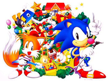 Sonic Christmas.Old Sonic And Tails Sonic Christmas Photo 2731121 Fanpop