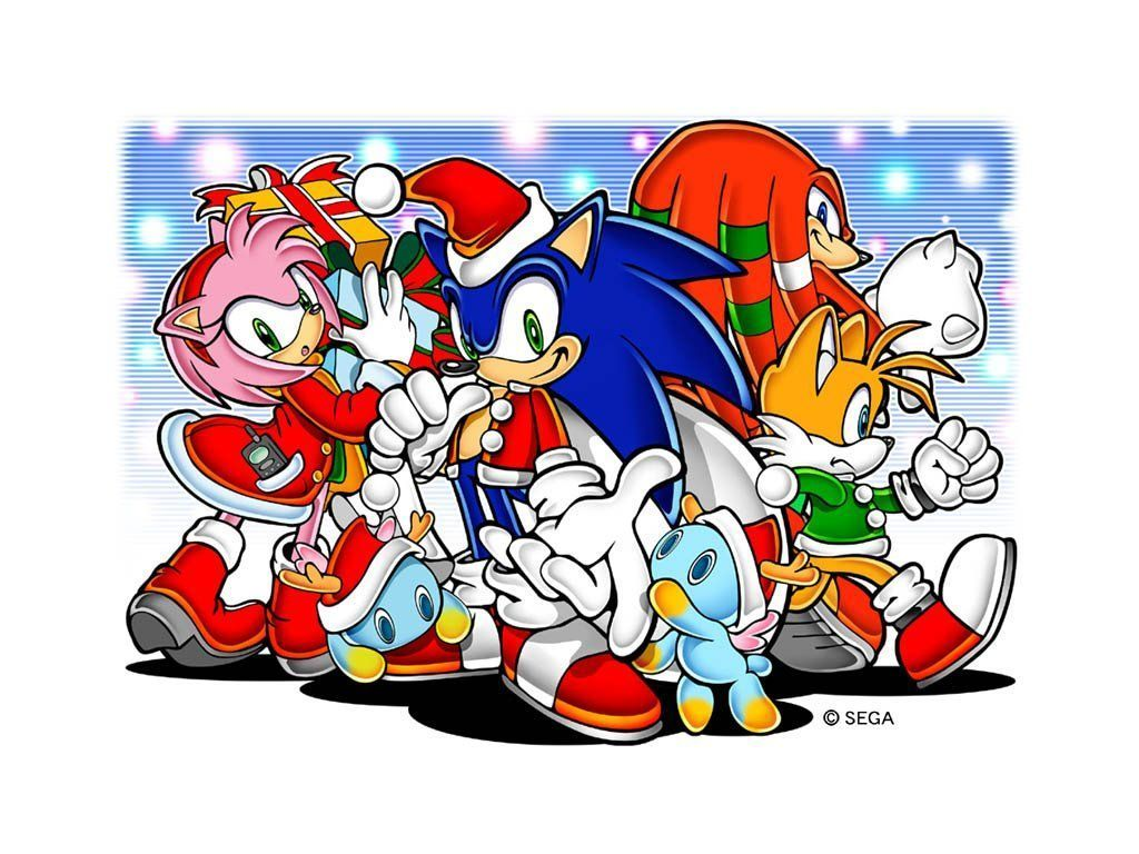 Sonic Christmas.Sonic And Friends Sonic Christmas Wallpaper 2731100 Fanpop