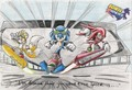 sonic,tails,knuckles - sonic-rider fan art