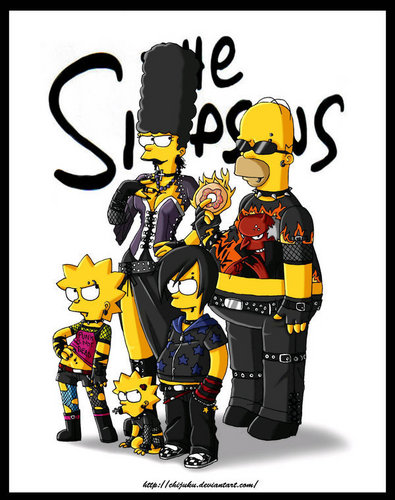 the simpsons wallpaper titled the simpsons emo