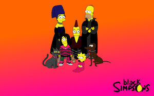 Simpsons karatasi la kupamba ukuta titled the_Simpsons_emo 2